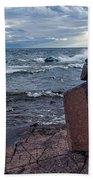 Show Me The Way - Lake Superior Rock Stack Bath Towel