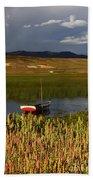 Lake Titicaca And Quinoa Field Bath Towel