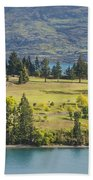 Lake Wakatipu And Queenstown Golf Course Bath Towel