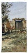 Landscape In Aragon Bath Towel