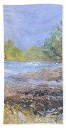 Landscape Whit River Bath Towel