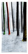 Landscape Winter Forest Pine Trees Bath Towel