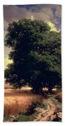 Landscape With Oaks Hand Towel