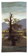 Landscape With Solitary Tree Bath Towel