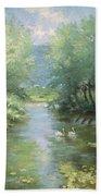 Landscape With Swans Bath Towel