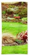 Landscaped Garden Bath Towel