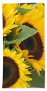 Large Sunflowers Hand Towel