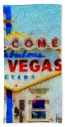 Las Vegas Sign Bath Towel