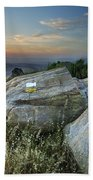 Last Light At The Windy Mountains Bath Towel