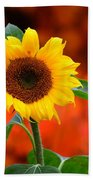 Last Sunflower Horizontal Bath Towel