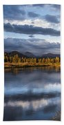 Late Afternoon On The Tuolumne River Bath Towel