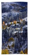 Late Fall In Vail Bath Towel