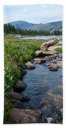 Late Summer Mountain Landscape Bath Towel