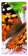 Late Summer Painted Lady Bath Towel