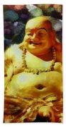 Laughing Buddha  Bath Towel