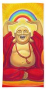 Laughing Rainbow Buddha Bath Towel