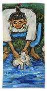 Laundry Girl Bath Towel