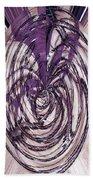 Lavender Bead Art Bath Towel