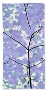 Lavender Blues Leaves Melody Hand Towel