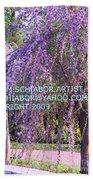 Lavender Butterfly Bush Bath Towel