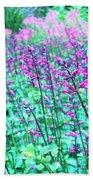 Lavender Color Flowers Bath Towel
