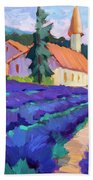Lavender Field In St. Columne Bath Towel