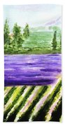 Lavender Field Bath Towel