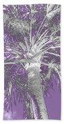 Lavender Glow Palm Tree Myakka River State Park Usa Bath Towel