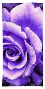 Lavender Rose With Brushstrokes Bath Towel