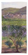 Lavender Seen Through Quince Trees Bath Towel