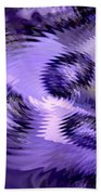 Lavender Water Abstract Bath Towel