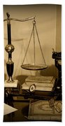 Lawyer - The Lawyer's Desk In Black And White Hand Towel