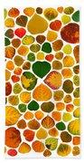 Leaf Collage 2 Bath Towel