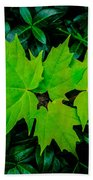 Leaf Overlay Bath Towel