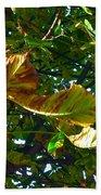 Leafy Tree Image Bath Towel
