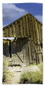 Leaning Barn Of Bodie California Hand Towel