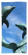 Leaping Dolphins In The Isles Of Scilly Bath Towel