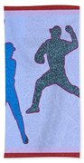 Leather Texture Art Bowler And Pitcher Base Ball Game Sports Competition Hand Towel