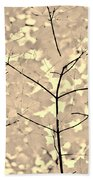 Leaves Fade To Beige Melody Hand Towel