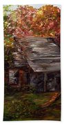 Leaves On The Cabin Roof Bath Towel