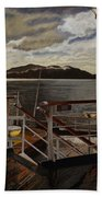 Leaving Queen Charlotte Sound Bath Towel