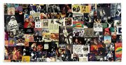 Led Zeppelin Collage Hand Towel