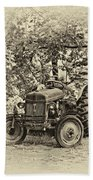 Left Fielder Antique Bath Towel