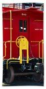 Lehigh New England Railroad Caboose 583 Hand Towel