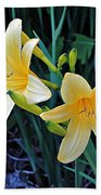 Lemon Lily Blooms Hand Towel