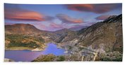 Lenticular Clouds At The Red Sunset Bath Towel