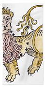 Leo An Illustration From The Poeticon Bath Towel