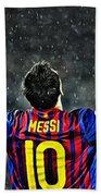 Leo Messi Poster Art Bath Towel