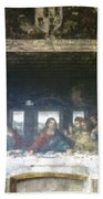 Leonardo Da Vinci's Last Supper Bath Towel