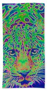 Leopard Eyes Green Bath Towel